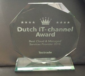 IT specialist, expertise, Tectrade, Award voor Cloud & Managed Services